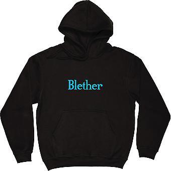 Blether Black Hooded-Top