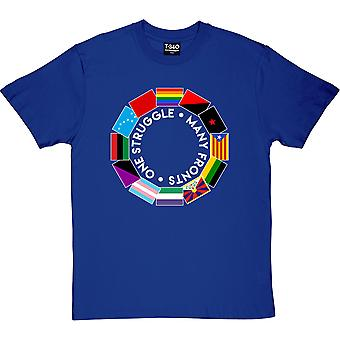 One Struggle: Many Fronts Royal Blue Men's T-Shirt