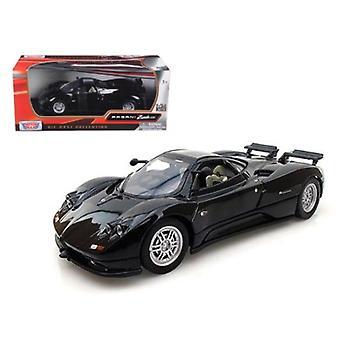 Pagani Zonda C12 Schwarz 1/24 Diecast Auto Modell von Motormax