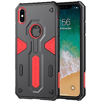 For iPhone XS Max Tough Defender II Case Red Shockproof TPU & PC Armour Cover