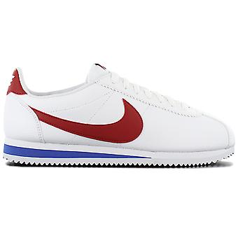Nike Classic Cortez Leather Herren Schuhe Weiß-Rot 749571-154 Sneaker Sportschuhe