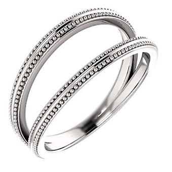 14k White Gold Polished Negative Space Ring  Size 6.5 Jewelry Gifts for Women - 4.0 Grams