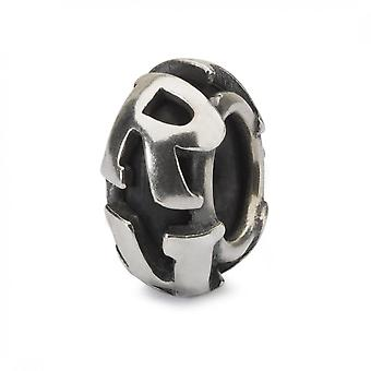 Trollbeads Letter R Silver Spacer