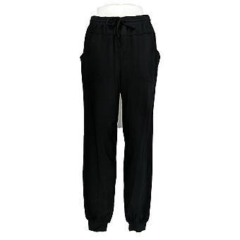 Anybody Women's Pants Tall Cozy Knit Jogger Pants w/Seaming Black A369516