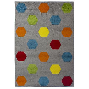 Flair Rugs Brights Hex Multicoloured Floor Rug