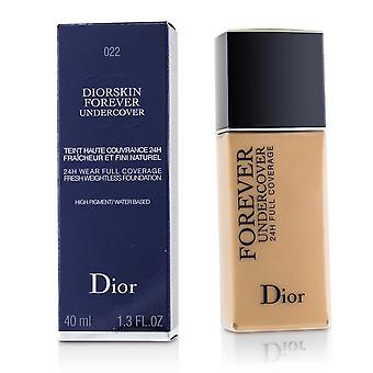 Diorskin forever undercover 24 h wear full coverage water based foundation # 022 cameo 225350 40ml/1.3oz