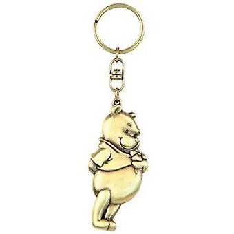 Metal Key Chain - Disney - Winnie The Pooh - Pewter Gifts Toys New 24261