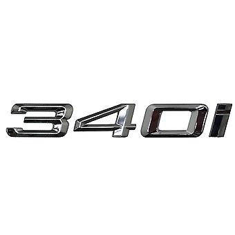 Silver Chrome BMW 340i Car Model Rear Boot Number Letter Sticker Decal Badge Emblem For 3 Series E36 E46 E90 E91 E92 E93 F30 F31 F34 G20