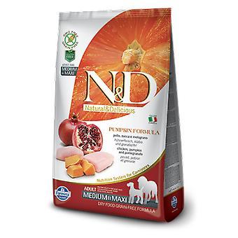 Farmina N&D Grain Free Pumpkin Adult Medium & Maxi Chicken and Pomegranate