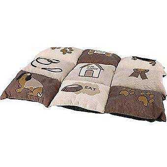 トリクシー犬パッチワーク ブランケット 55 × 40 cm (犬、寝具、毛布・ マット)