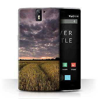 STUFF4 Case/Cover for OnePlus One/Sunset Fields/English Gardens