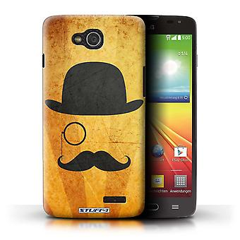 STUFF4 Case/Cover for LG L90 Dual/D410/Bowler/Monocle/Retro Moustache