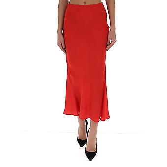 Wandering Wgs20325003 Women's Red Cotton Skirt