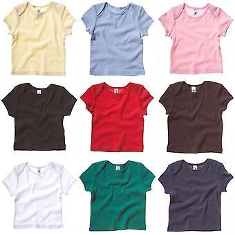 Bella + vászon Baby Unisex rövid ujjú borda T-shirt