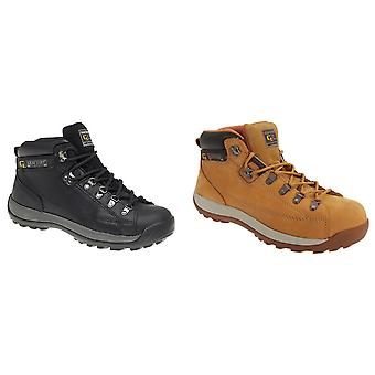 Grafters Mens Lace To Toe Modern Safety Toe Cap Ankle Boots