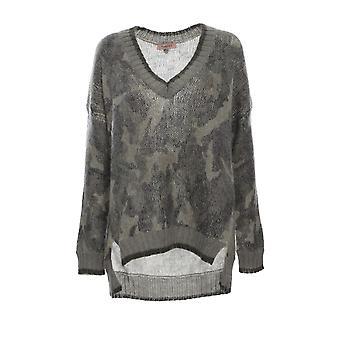 Twin-set 192tt333004258 Women's Camouflage Wool Sweater