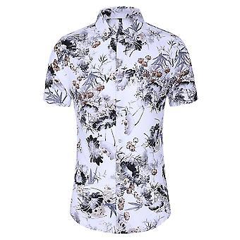 Allthemen Men's Printed T-shirts Hawaiian Summer Beach Tops