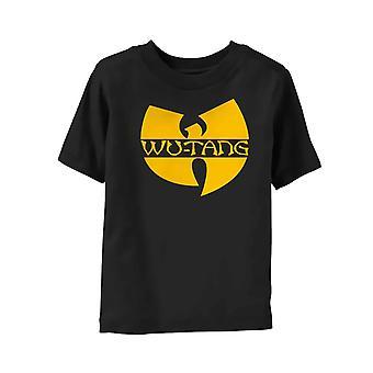 וו טאנג שבט ילדים T חולצת לוגו קלאסי הלהקה הרשמי הגילאים השחורים 3-24 חודשים