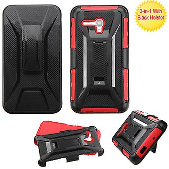 Custodia ASMYNA Advanced Armor Stand con fondina per onetouch Fierce XL - Nero/Rosso