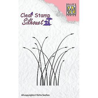 נלי ' s בחירה צללית בולים ברור לפריחה דשא SIL032 65x64mm