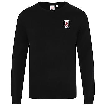 Fulham FC Official Football Gift Mens Knitted Crew Neck Jumper