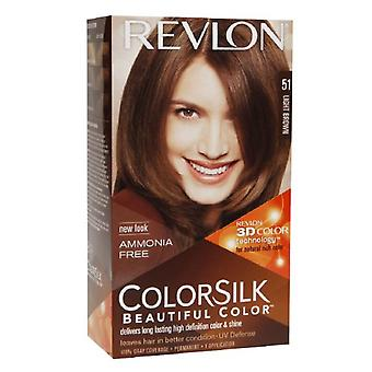 Revlon colorsilk beautiful color, light brown 51, 1 ea