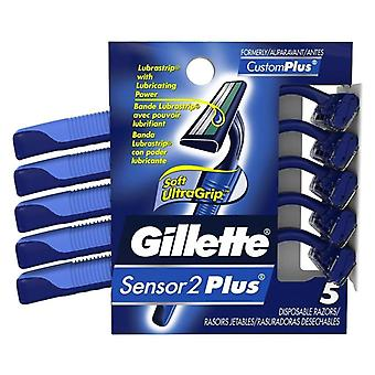 Gillette sensor2 plus disposable razors, 5 ea