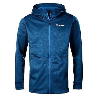 Berghaus Kamloops Mens Full Zip Hooded Fleece Jacket Coat Blue