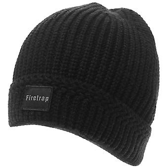 Firetrap Mens Ribbed Beanie Hat