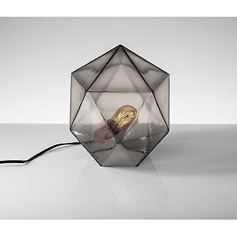 """9"""" X 9"""" X 12"""" Copper Glass Table Lantern"""