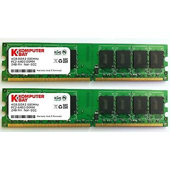 Komputerbay 8GB 2X 4gb DDR2 800mHz PC2-6300 PC2-6400 DDR2 800 (240 PIN) Dimm Memória do desktop