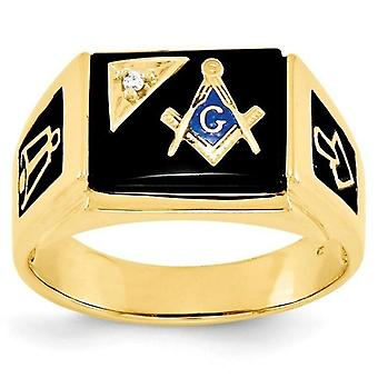 Surface masonic ring with crystal