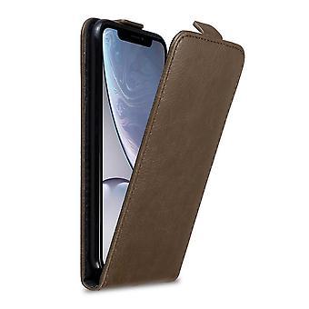 Cadorabo hoesje voor Apple iPhone XR case cover - Flip telefoonhoesje met magnetische sluiting - Case Cover Beschermhoes Boek Vouwen Stijl