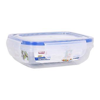 Hermetic Lunch Box Privilege Rectangular Transparent/2800 ml