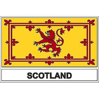 Autocollant sticker drapeau  ecosse ecossais royal