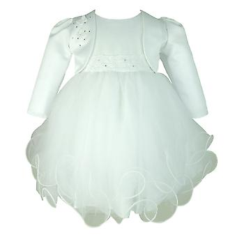 Frazer & James White Sparkle Christening Hochzeitskleid mit White Butterfly Bolero Jacket