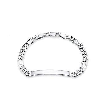 Amor�?�Bracciale unisex ID Ident Bracciale incisioni Figaro in argento Sterling rodiato 19�cm�?�356084