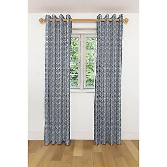 Mcalister textiles baja noir et rideaux blancs