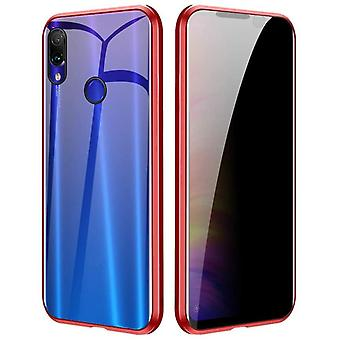 Mobiles Gehäuse mit doppelseitigem gehärtetem Glas - XiaoMi 8 - Rot