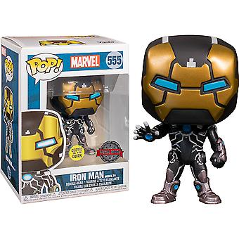 Iron Man Mark XXXIX Glow Marvel 80th An. US Excl Pop!
