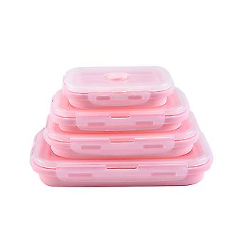 4 PCS silicone collapsible food preservation box, sealed food storage box, leak-proof microwave oven can be used as my storage container