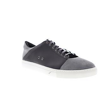Zanzara Record  Mens Gray Suede Leather Casual Fashion Sneakers Shoes