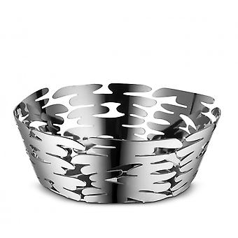 Alessi 18cm Barket Round Basket/Fruit Bowl - Stainless Steel