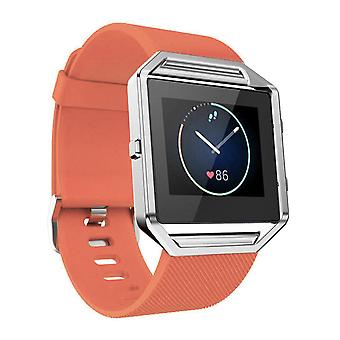 Replacement Wristband Bracelet Band Strap for Fitbit Blaze[Orange,Small]