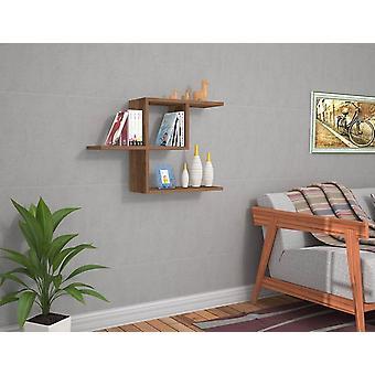 Półkolorowa półka z orzecha włoskiego w melaminie 50x20x50 cm