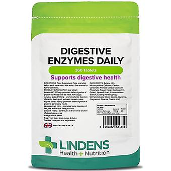Lindens Digestive Enzymes Daily Tablets 360 (4142)