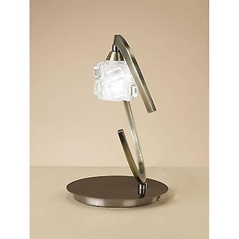 Table Lamp Ice 1 Bulb G9 Eco, Antique Brass