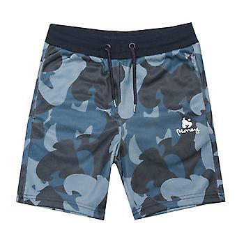 Boy's Money Junior Ape Camo Track Shorts in Blue
