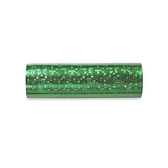 3.8m Green Holographic Streamer Roll para Fiestas