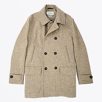 Oliver Spencer  - Wool Double-Breasted Coat - Beige